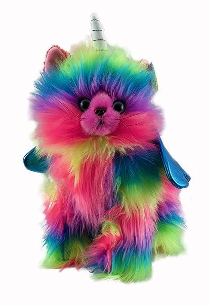 Amazon Com Rainbow Butterfly Unicorn Kitten Stuffed Toy With Light