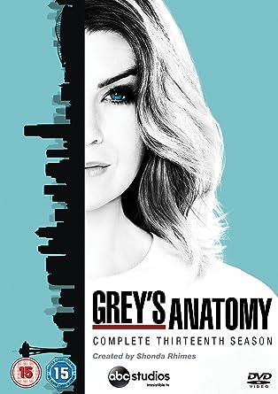 Greys Anatomy Season 13 Dvd Amazon Ellen Pompeo Justin