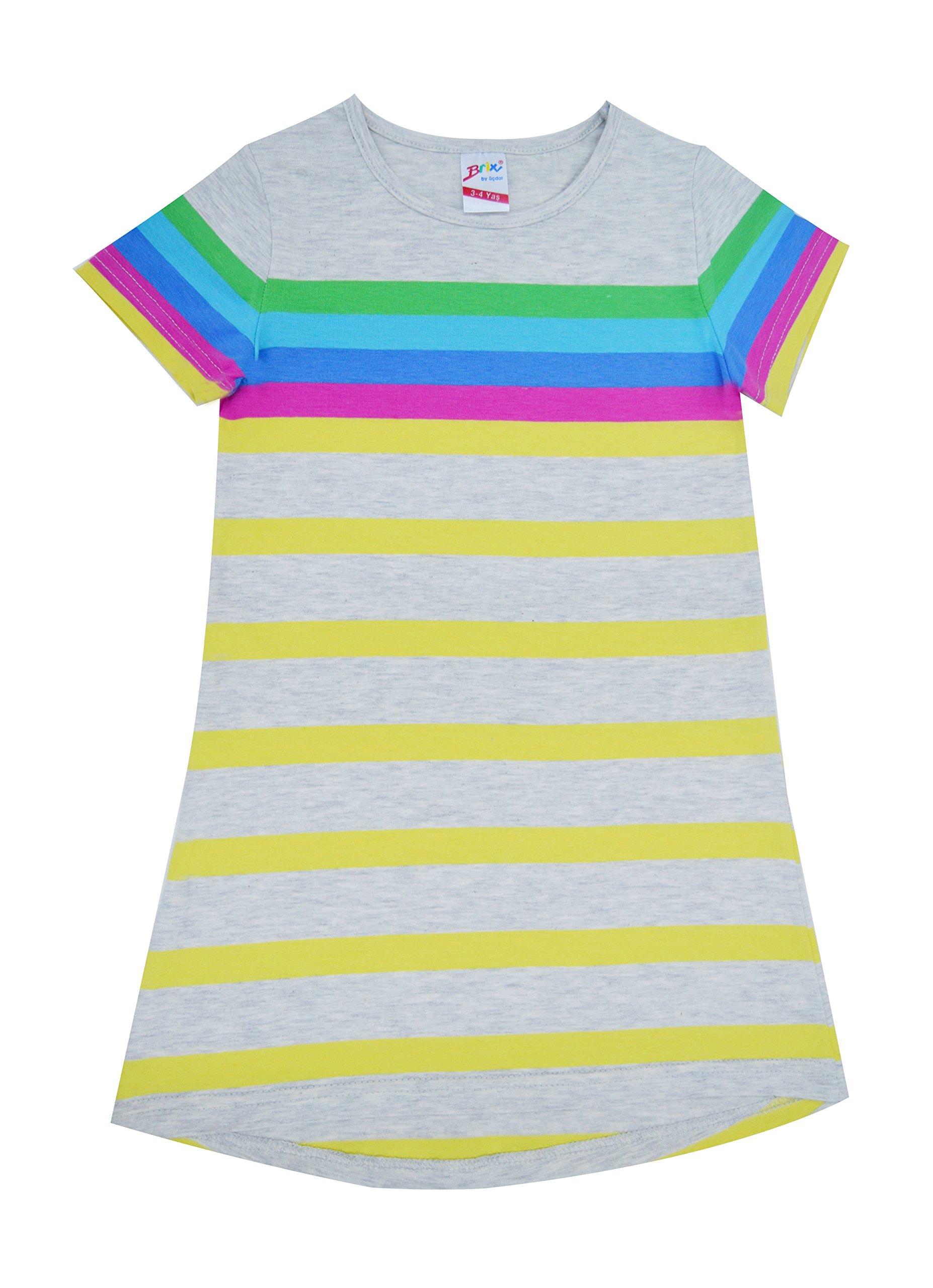 Brix Girls\' Short Sleeve Cotton Nightgown ? Super Soft Comfort ...