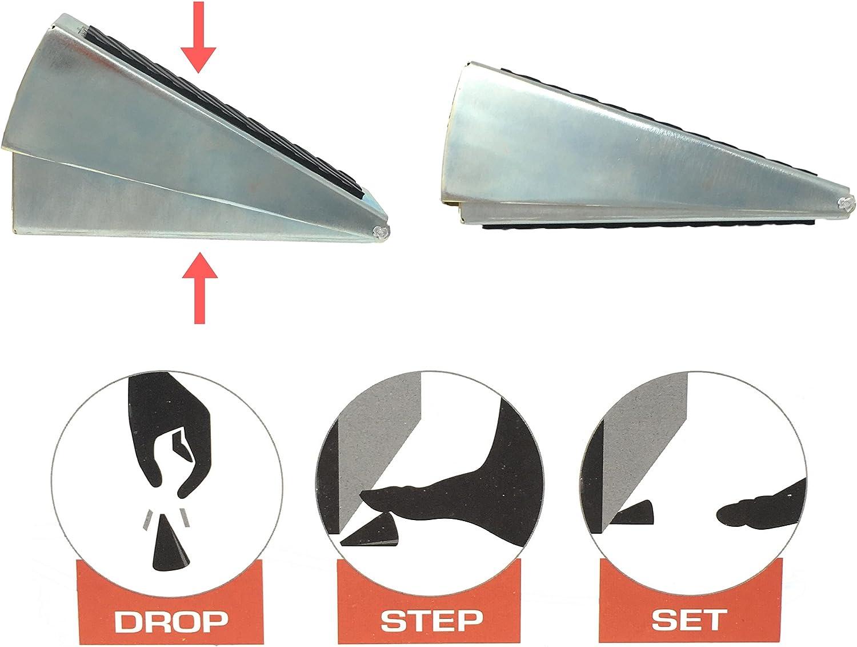 Fits /¾ Heavy Duty Adjustable Spring Loaded Commercial Door Stop 3/½ inch Door Gaps This Self-Adjusting Door Wedge Will Hold Open The Heaviest of Industrial Doors
