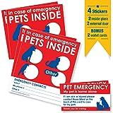 Amazon.com : LuckyPet Firefighter Pet Alert Stickers ...