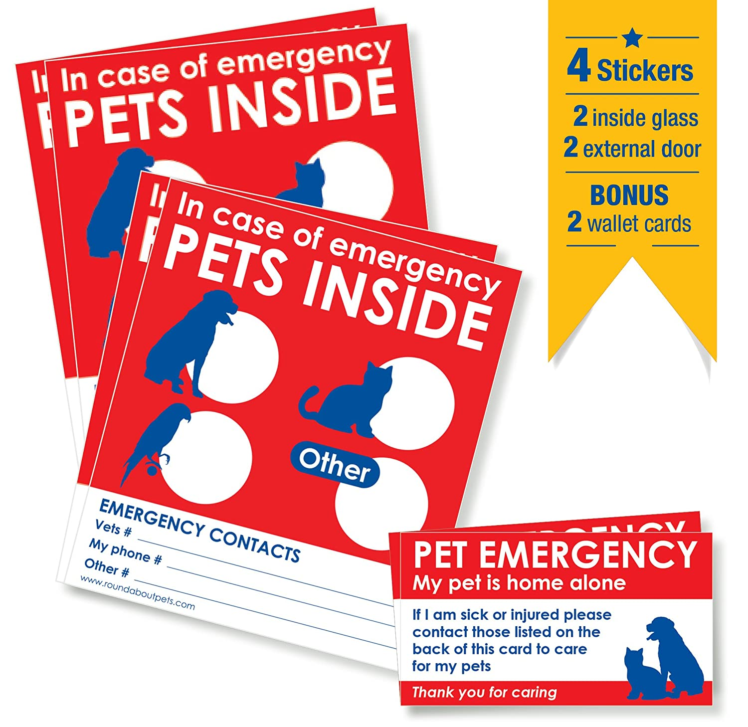 Awe Inspiring Pets Rescue Stickers X 4 With Bonus Pet Home Alone Wallet Beutiful Home Inspiration Aditmahrainfo