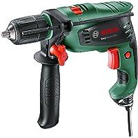 Bosch Hammer Impact Drill EasyImpact (550 Watt, Keyless Twin-Sleeve Chuck, Electronic Speed Control, Auxiliary Handle…