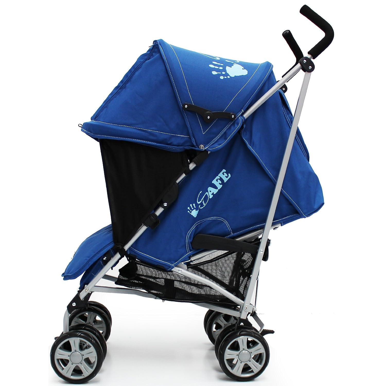 iSafe Buggy Cochecito Cochecito - azul marino completo con saco, headsupport, parachoques Bar, bolso cambiador y protector de lluvia: Amazon.es: Bebé