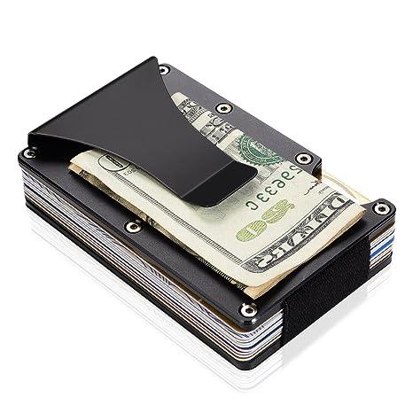 d6e15a38676a Carbon Fiber Minimalist Wallet, RFID Front Pocket Wallets for Men ...