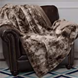 Bedsure Faux Fur Reversible Tie-dye Shaggy Blanket Throw for Sofa, Couch and Bed - Super Soft Fuzzy Fluffy Fleece Throw…