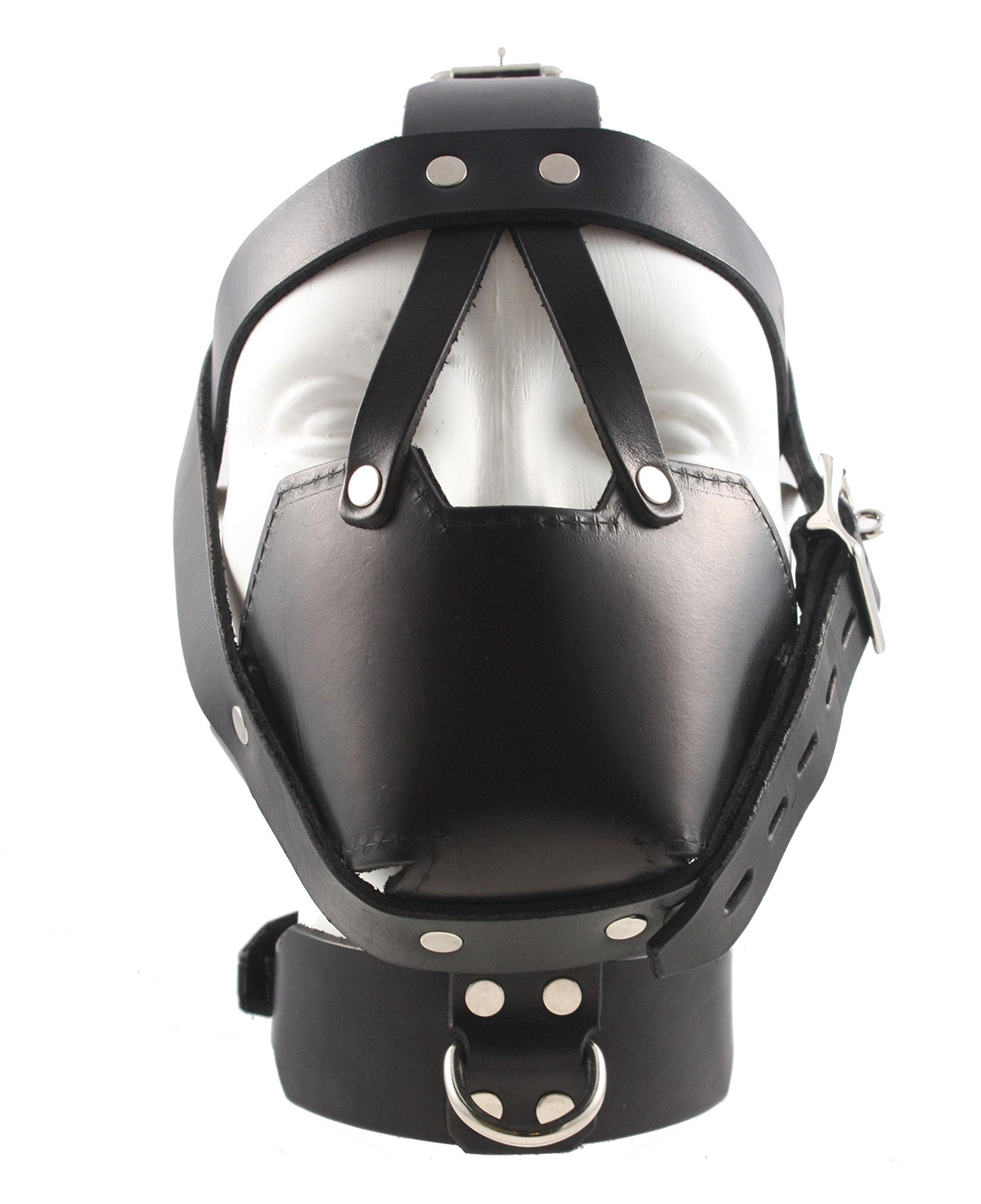 Mr-S-Leather - Fetters Head Harness Muzzle with Locking Buckles & Padded Mouth - Men's by Mr-S-Leather