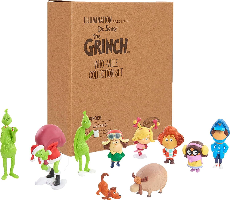 Grinch Movie 40745 Grinch Whoville Collection Figure Set, Multicolor