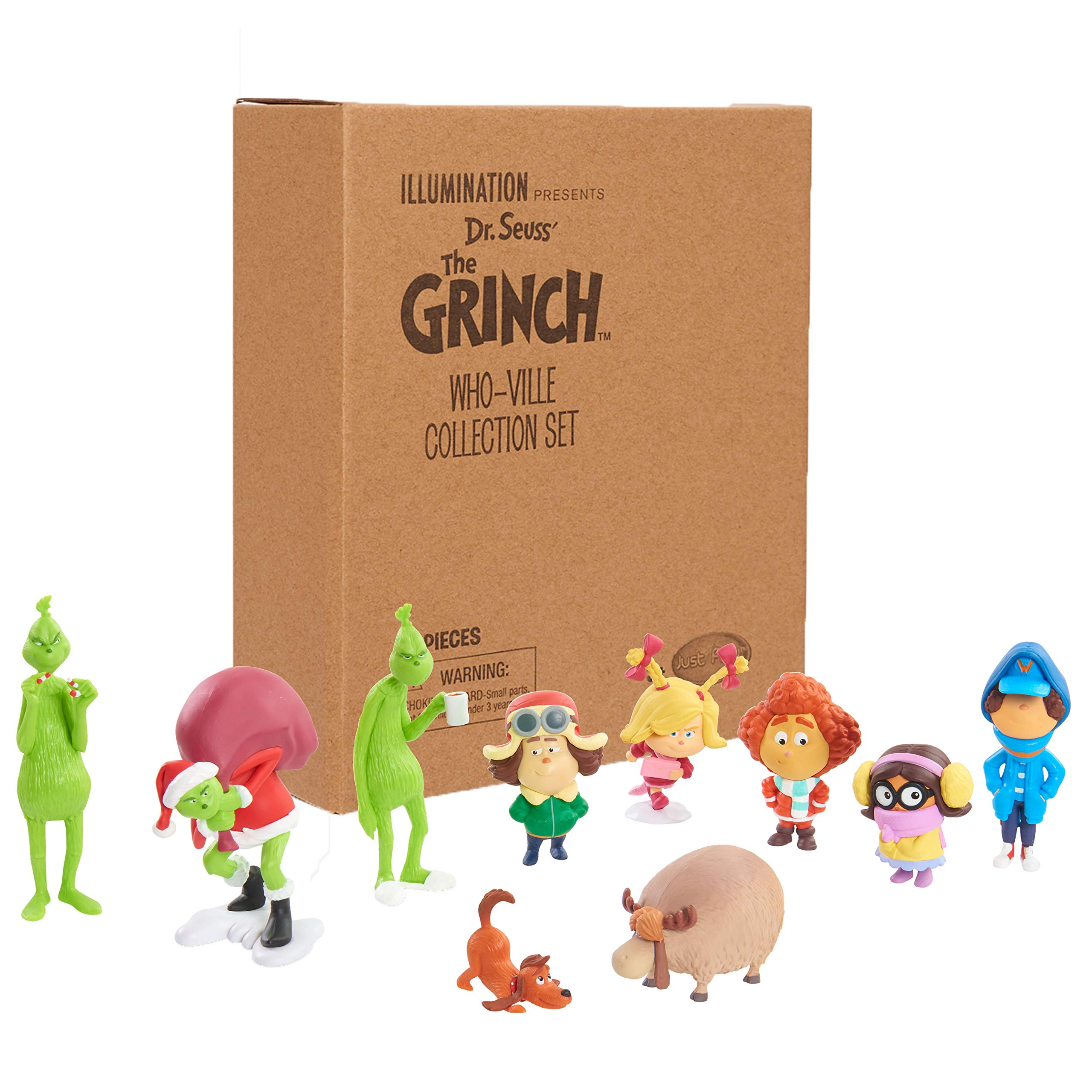 Grinch Movie 40745 Grinch Whoville Collection Figure Set, Multicolor