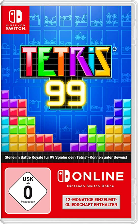 Tetris 99 + 12 Monate Nintendo Switch Online [Importacion Alemania]: Amazon.es: Videojuegos