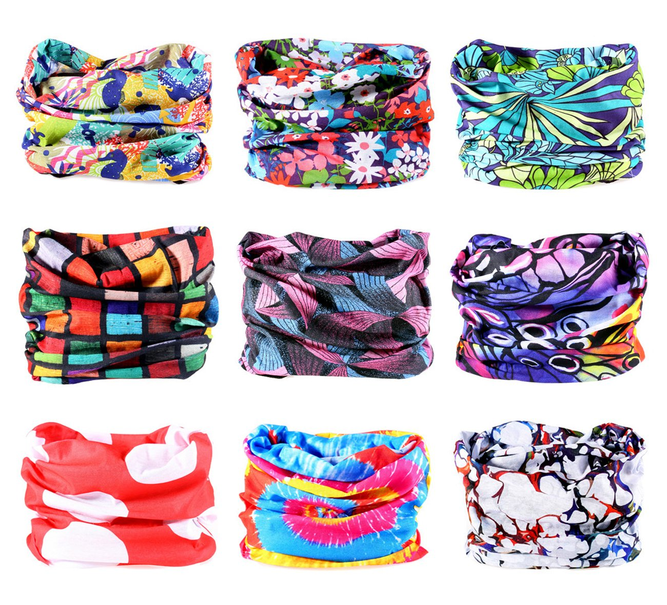 9PCS Outdoor Headscarves, Womens and Mens Headband Headwear (Dream Catcher)