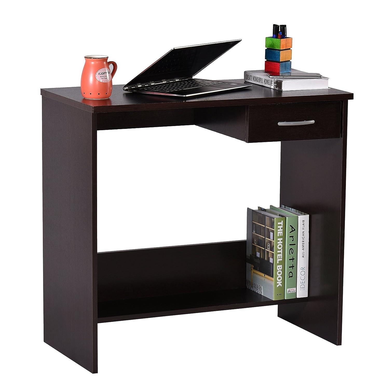 Deckup Siena Office Table and Study Desk (Dark Wenge, Matte Finish)