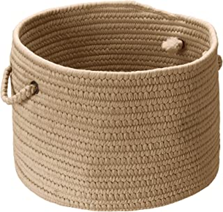 product image for Colonial Mills BR33 14 by 14 by 10-Inch Boca Raton Solid Storage Basket, Cuban Sand