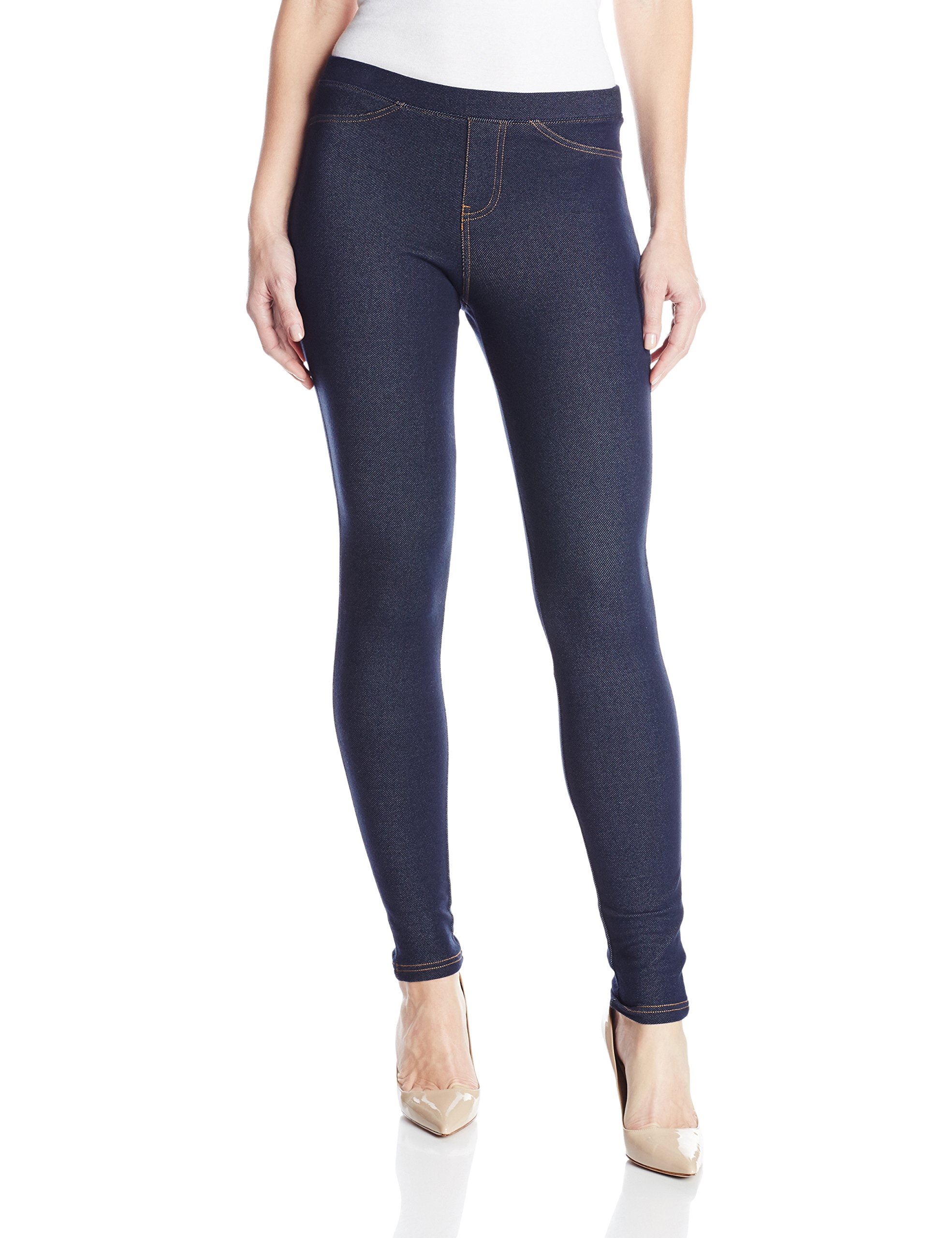 No Nonsense Women's Legging, Dark Denim, Large