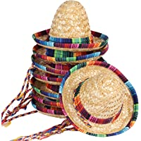 BTYMS 8 Packs Mini Sombrero Party Hats Mexican Hat Party Decorations Party Supplies Costume Hats for Kids Dolls Pets 5.9 Inch