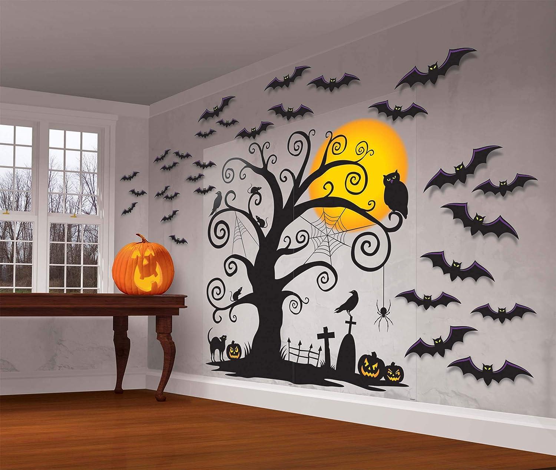 Amscan Halloween Cemetery Scene Setters 65'' x 32'' Paper & Plastic Decorating Kit