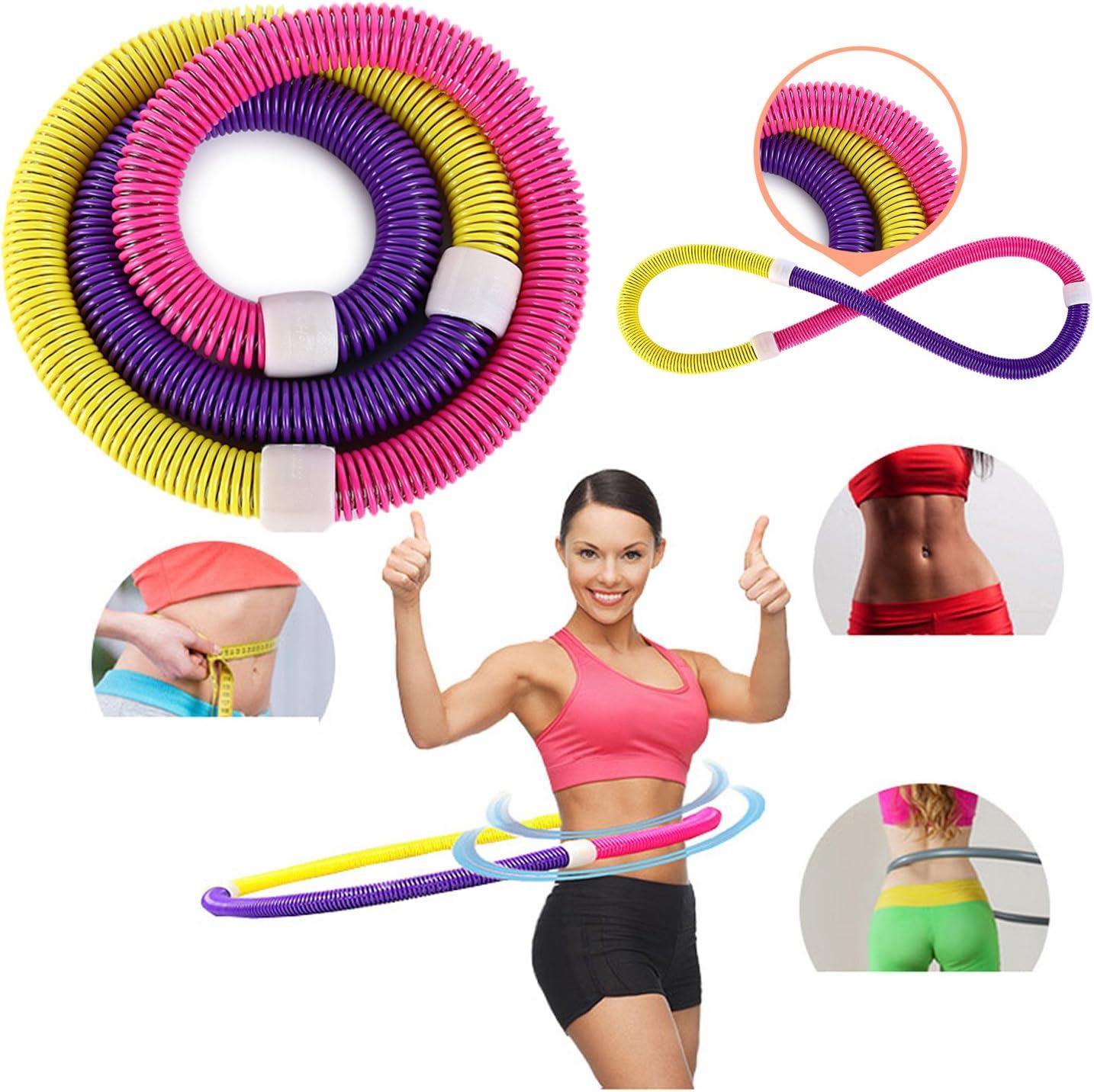 Cerceau de fitness Sports Cr/éoles pour perte de poids l/éger Tour de taille minceur Int/érieur de fitness M/étal galvanis/é /à ressort /à lint/érieur