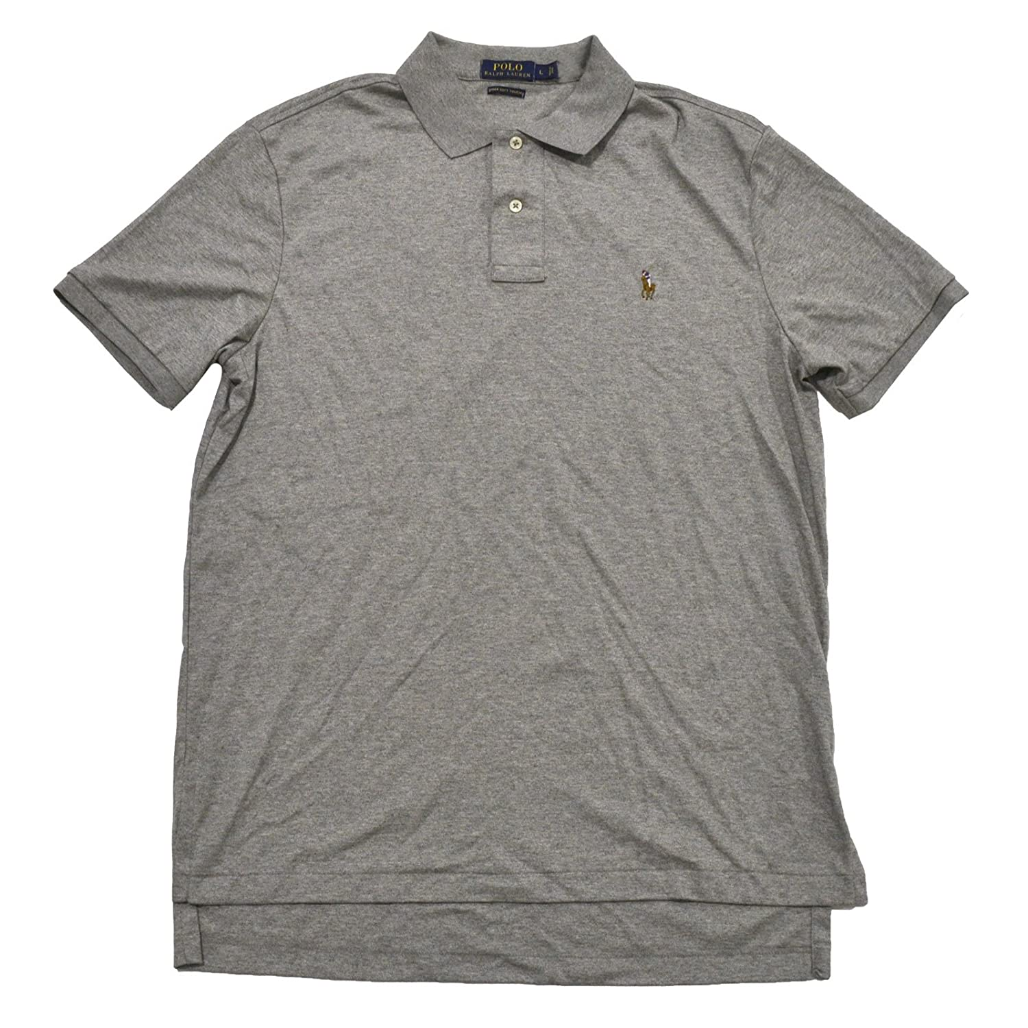 06725beb2f911 Polo Ralph Lauren Mens Cotton Heathered Polo Shirt at Amazon Men's Clothing  store: