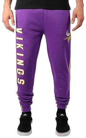 c5ae3693 Ultra Game NFL Minnesota Vikings Men's Jogger Pants Varisty Stripe Fleece  Sweatpants, Team Color Stripe, Small