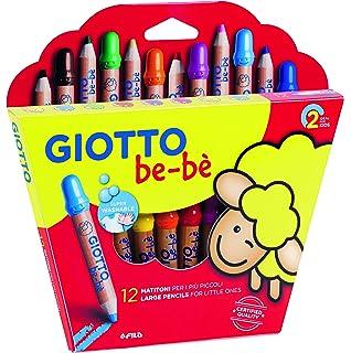 Giotto be-bè 466800 - Estuche 10 súper ceras irrompibles de colores y sacapuntas , color/modelo surtido: Amazon.es: Oficina y papelería