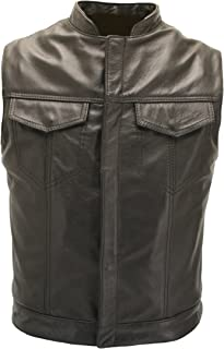 product image for Sons of Anarchy Leather Vest - Made in USA (Size 42)