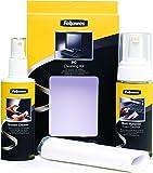 Fellowes Kit di Pulizia per PC, Spray 125 ml, Schiuma 150 ml, Panno Assorbente e Bastoncini di Pulizia