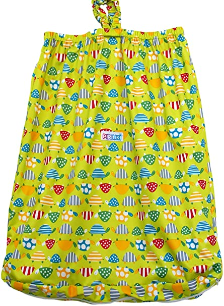 Piriuki impermeable cubo maletero para pañales de tela con cremallera y gancho (tamaño grande,