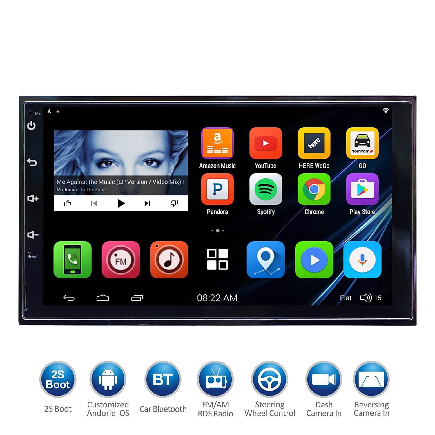 Atoto 7 hd touchscreen 2din android car navigation stereo quadcore car entertainment multimedia w fm rds radio wifi bt mirror link and more no dvd