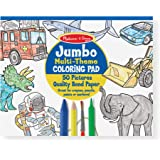 Melissa & Doug Jumbo 50-Page Kids' Coloring Pad - Space, Sharks, Sports, and More