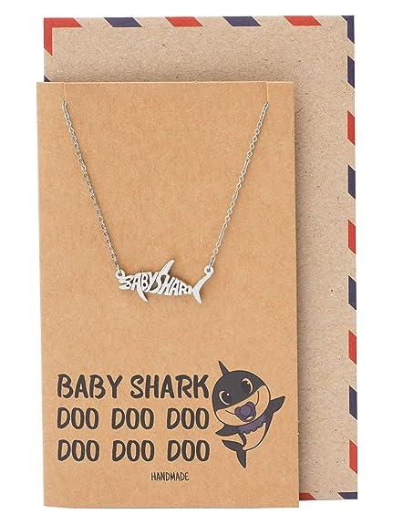 Amazon.com: Quan Jewelry Collar de tiburón bebé, joyería ...