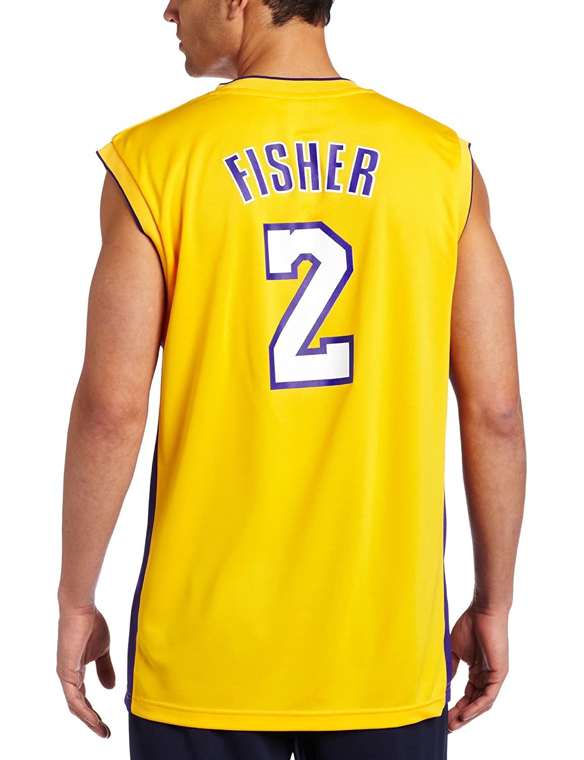 22629845fa94 Amazon.com   Los Angeles Lakers Derek Fisher Men s Gold NBA Replica Jersey