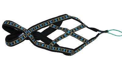 Weight Pulling Sledding Dog Harness X-back Style Black/Blue XLarge, 22.5