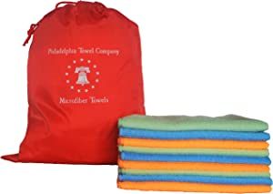 Philadelphia Towel Company Tagless Super Absorbent Eco Clean Large Microfiber Cleaning Cloth - 16