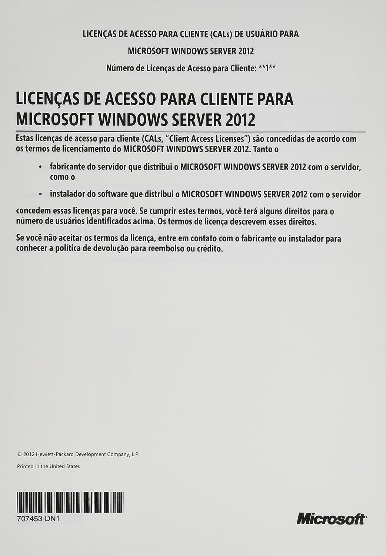 Windows Server 2012 CAL 1User EN//FR//ES//XC LIC Software
