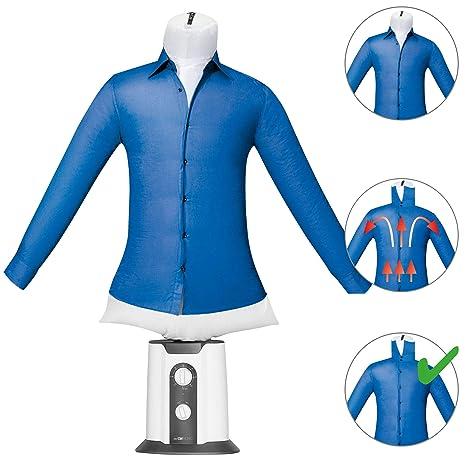 oneConcept ShirtButler /• Asciugatrice Automatica per Camicie /• Stiratrice per Camicie /• Manichino Stirante con Termoventilatore /• 2 in 1 /• Easy Dry /• Taglia Multipla /• Fino a 65 /°C /• Nero