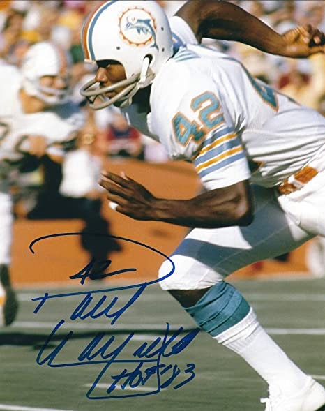 7bcfeb5c6 Image Unavailable. Image not available for. Color  Autographed Paul Warfield  8X10 Miami Dolphins Photo