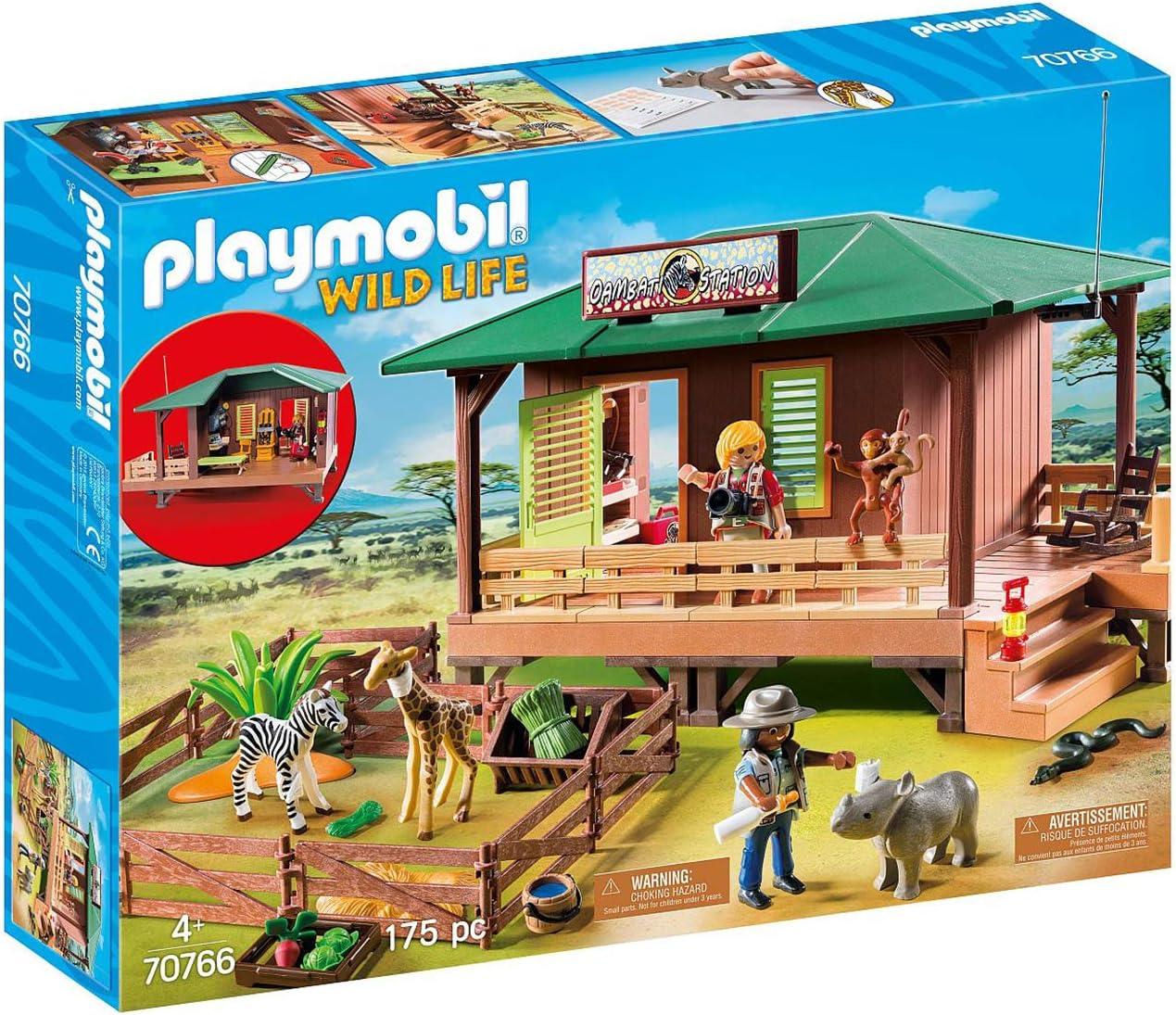 Playmobil le Centre de soins pour animaux de la savane pas cher