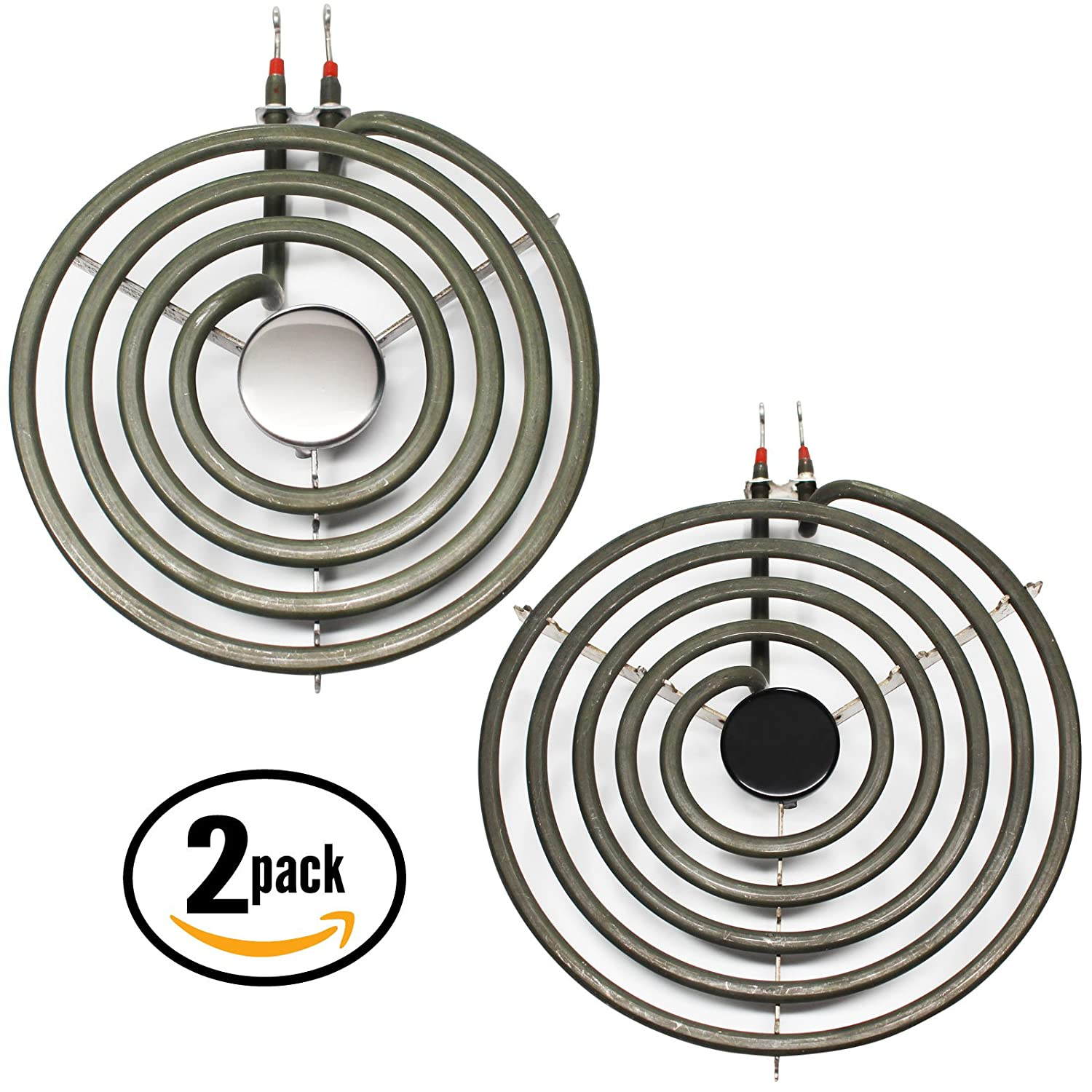 2-Pack Replacement Frigidaire FEF350BAWA 8 inch 5 Turns & 6 inch 4 Turns Surface Burner Elements - Compatible Frigidaire 316442301 & 316439801 Heating Element for Range, Stove & Cooktop