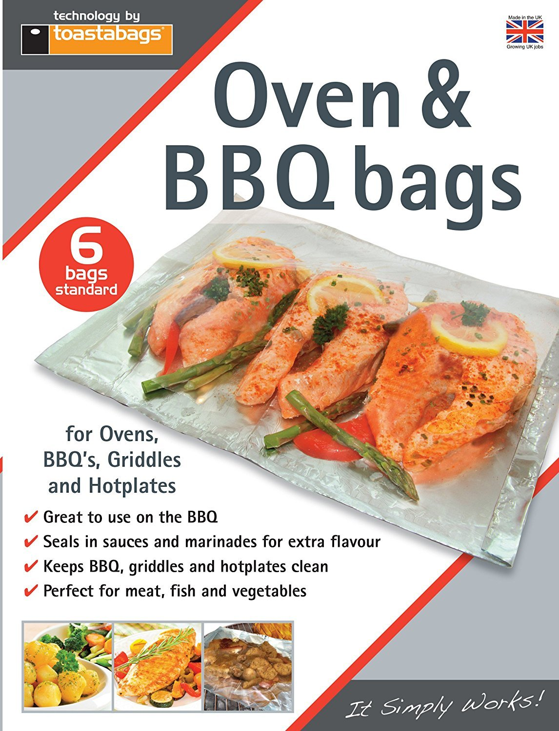 Pack of 6 Oven and BBQ Bags