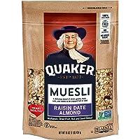 4-Count Quaker Muesli, Raisin Date Almond, 16oz Bag