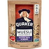 Quaker Muesli, Raisin Date Almond, 16oz Bag, 4 Count