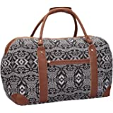 Canvas Travel Holdalls - 30 COLOURS - Weekend Overnight Bags - Medium Size Holiday Duffle Bag - Ideal Womens Ladies Gym Holdall - Hand Luggage Cabin Baggage 50cm x 30 x 25, 35 Litre - QL216M