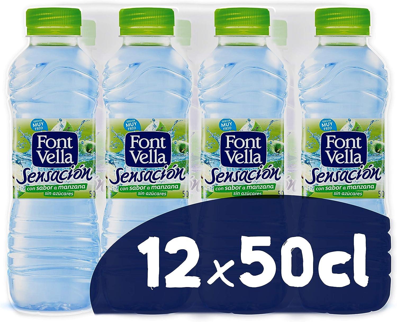 Font Vella Sensación Agua Mineral sabor manzana y kiwi - Pack 12 x 50cl: Amazon.es: Alimentación y bebidas