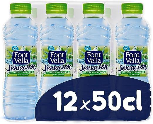 Font Vella Sensación Agua Mineral sabor manzana y kiwi - Pack 12 x ...