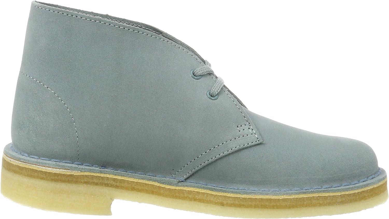 Clarks Originals 261227424, Desert Boots Femme Bleu Grey Blue