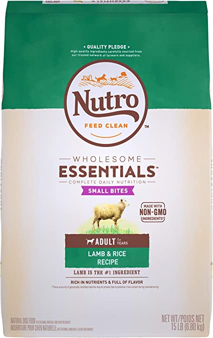 Amazon Com Nutro Wholesome Essentials Natural Adult Dry Dog Food