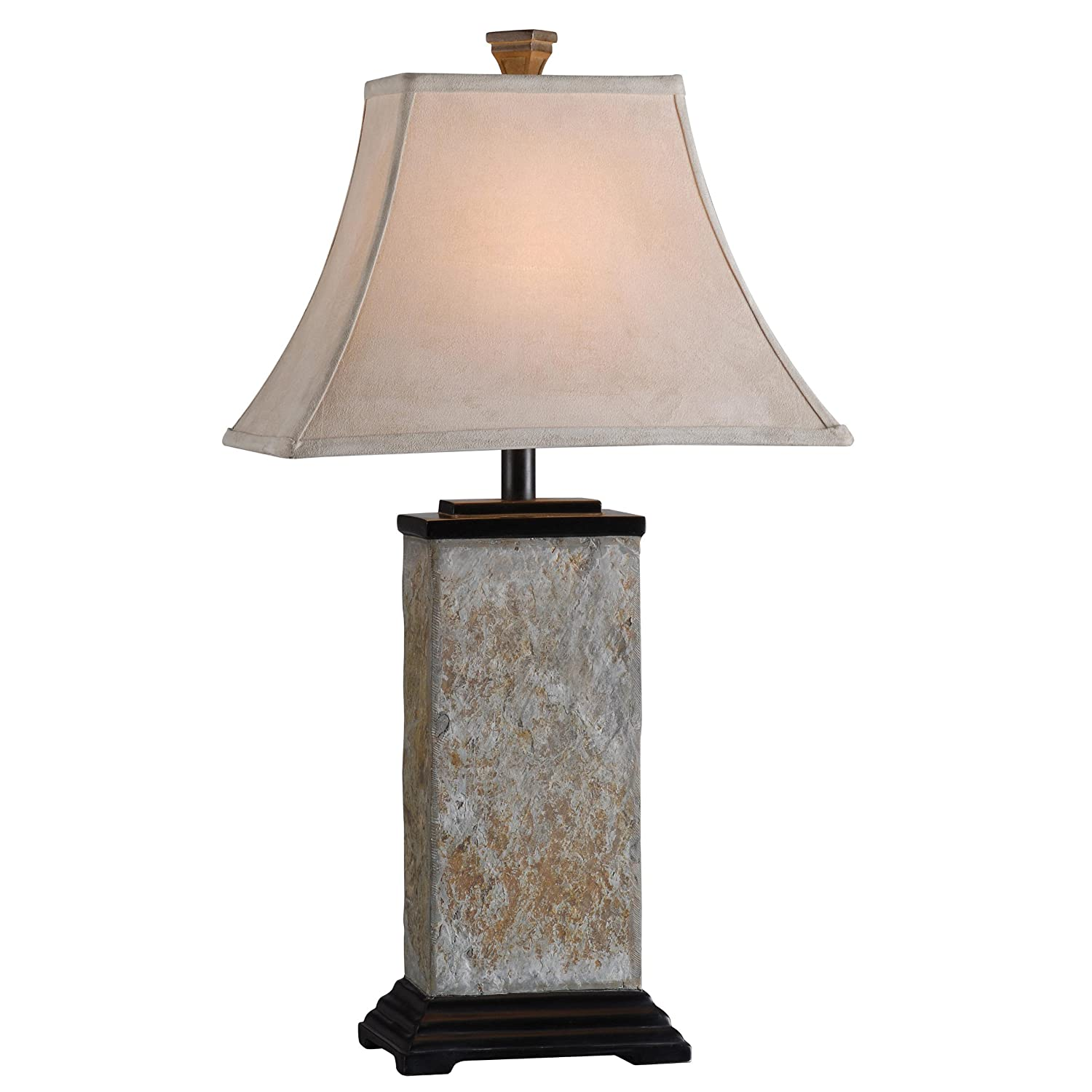 Good Kenroy Home Bennington Table Lamp With Natural Slate Finish     Amazon.com