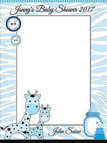 Amazoncom Custom Baby Giraffes Baby Shower Photo Booth Frame