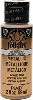 product image for FolkArt Metallic Acrylic Paint in Assorted Colors (2 oz), 2480, Royal Gold