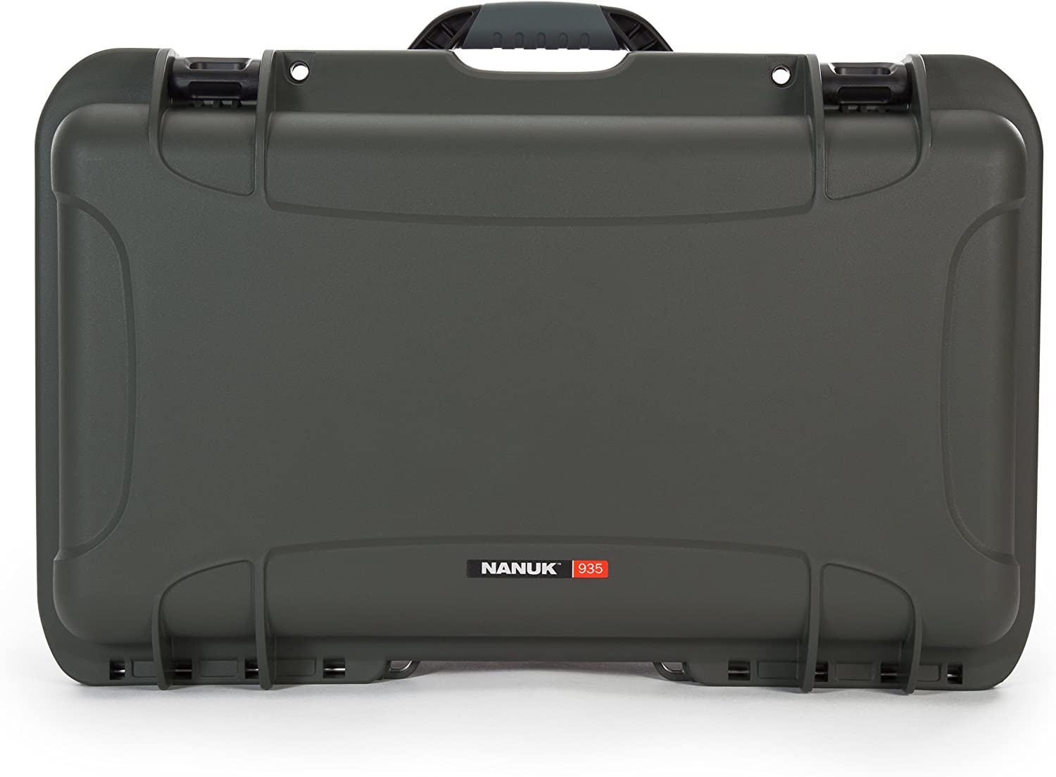 Nanuk 935 Waterproof Carry-On Hard Case with Lid Organizer and Padded Divider w// Wheels Olive